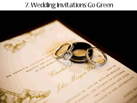 Wedding invitations and save-the-dates go green in 2011