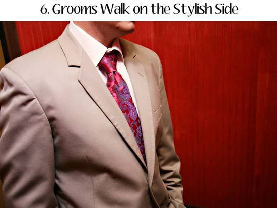 Grooms will wear formalwear that fits their style and personality