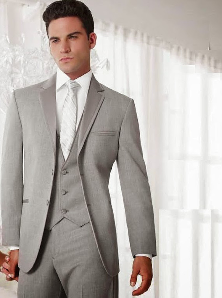 Modern grey tuxedo from Pride of Rajasthan