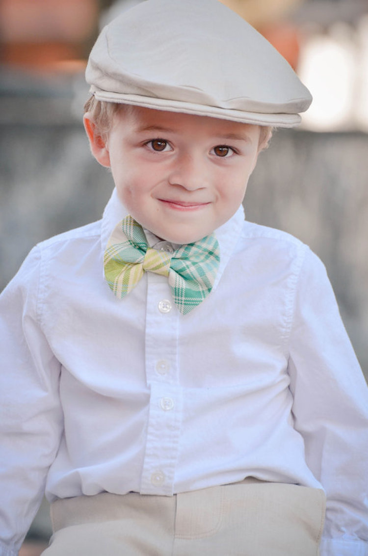 Ring bearer bow tie from Two L Creations