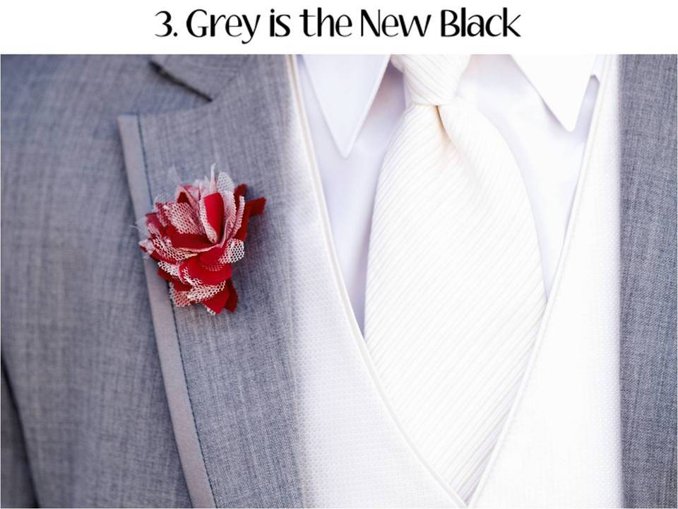 Grey is the IT neutral color for 2011 weddings