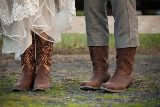 Cowboy boots for the bride and groom