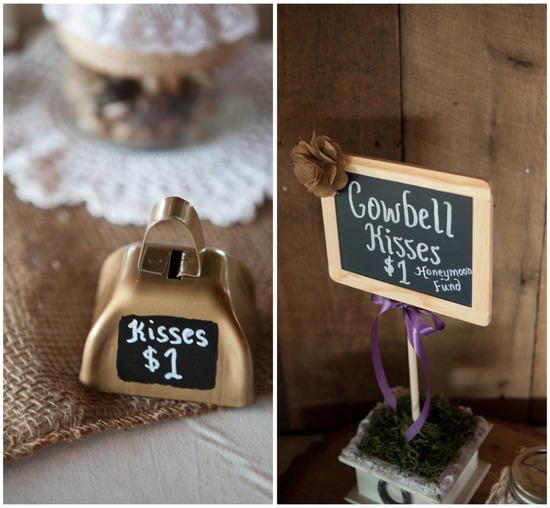 Fun Reception Idea Cowbell Kisses One Dollar