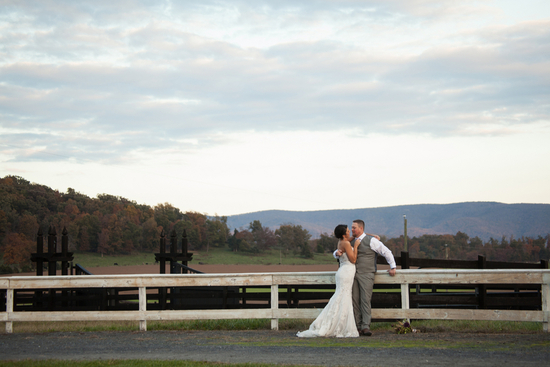 photo of Gorgeous country view for a rustic wedding