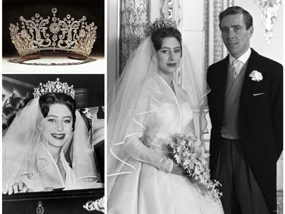 Royal wedding day style- Princess Margaret wore a silk ...