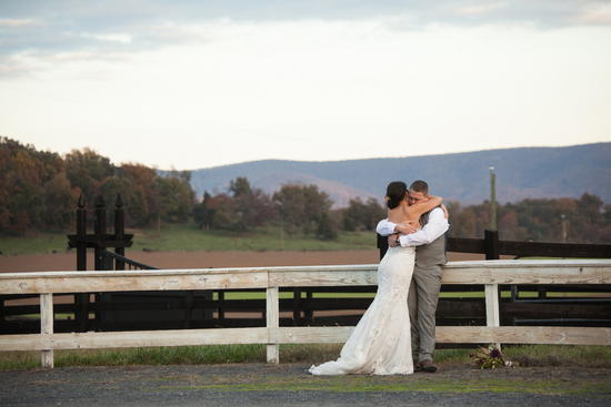 Rustic outdoor venue view