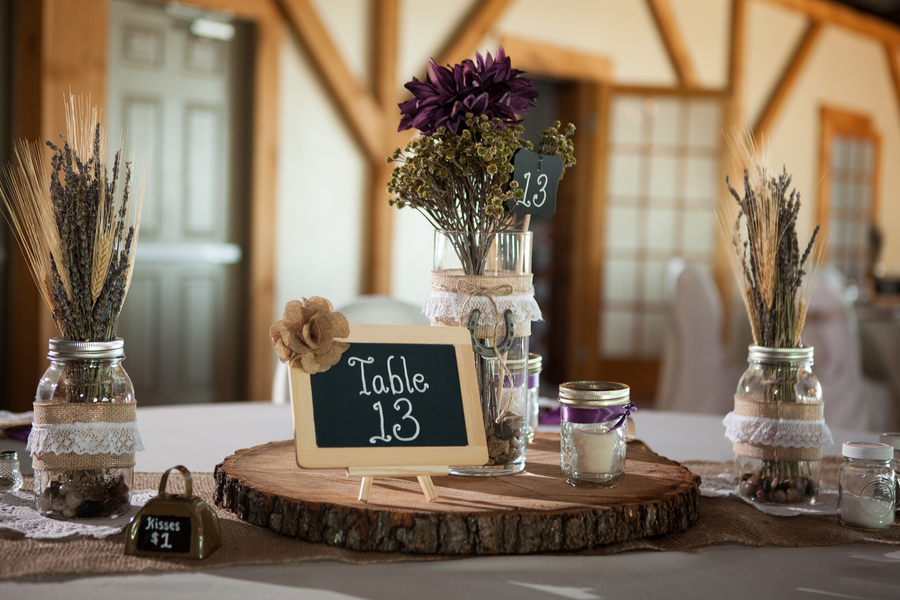 Rustic Purple Wedding Decor
