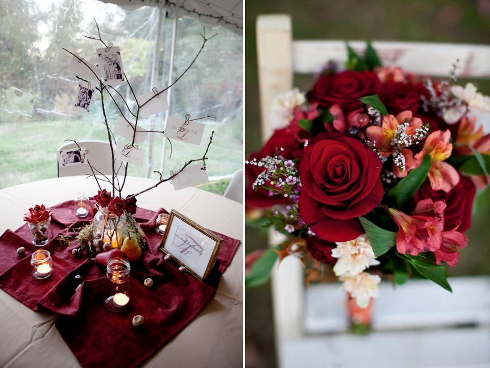 Outdoor-real-wedding-fall-wedding-flowers-decor-reception-centerpieces.full