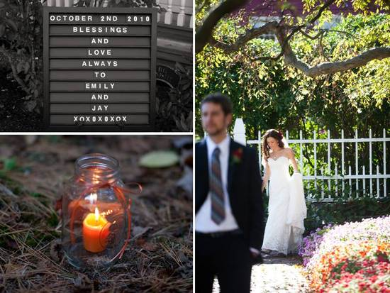 Lovely fall wedding in New Hampshire with DIY touches galore!