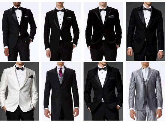 photo of Dapper customizable tailored suits and tuxedos for your groom and his groomsmen