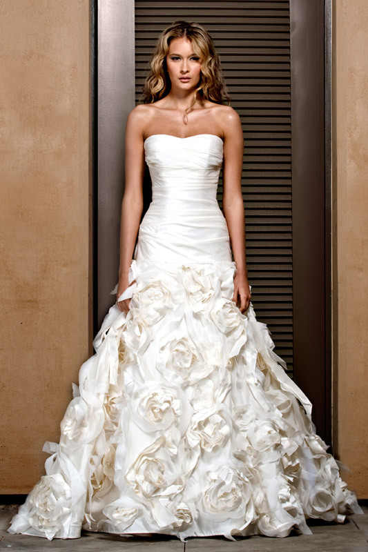 Spring 2011 wedding dress by Jenny Lee- ruched bodice, textured skirt