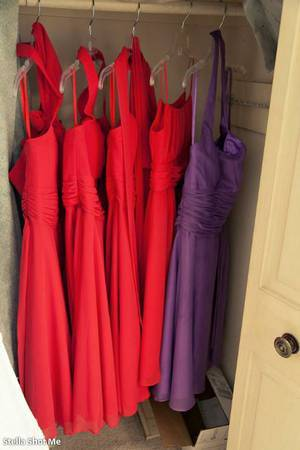 hanging brides naids red plus purple