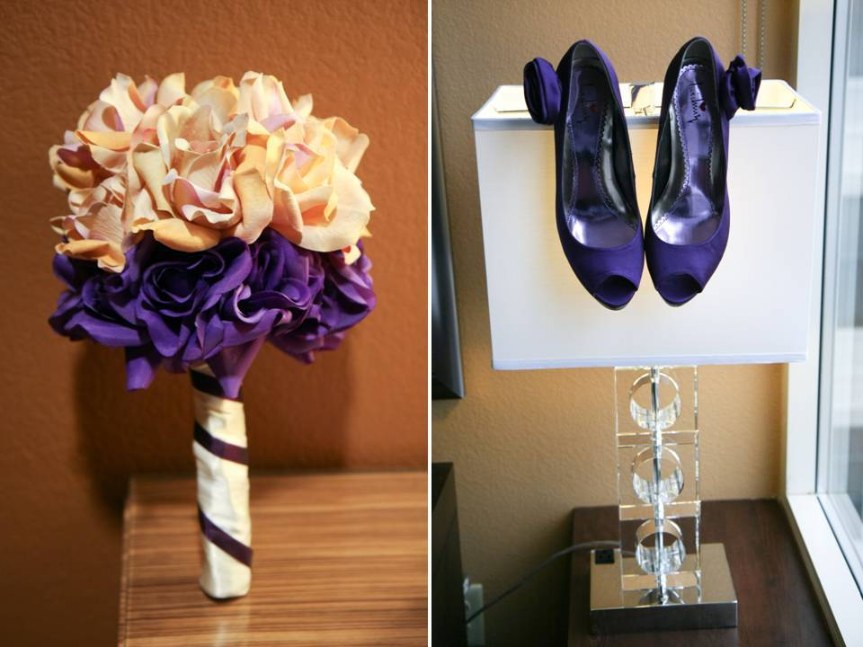 Real-wedding-mo-purple-satin-peep-toe-bridal-heels-blush-pink-purple-bridal-bouquet.full