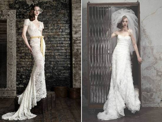 Bruce Oldfield romantic lace wedding dresses