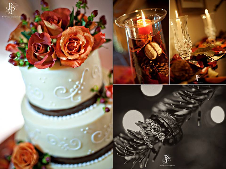 Intimate-fall-outdoor-wedding-white-wedding-cake-red-orange-roses-diamond-engagement-ring.full