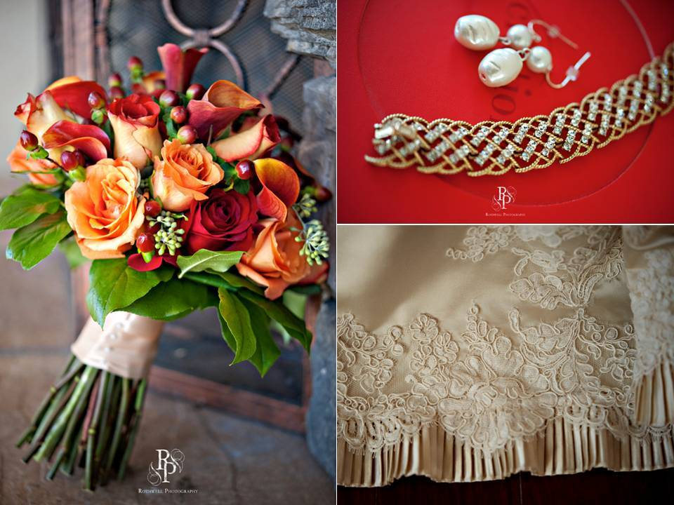 Intimate-fall-november-wedding-orange-red-bridal-bouquet-vintage-chic-lace-wedding-dress-bridal-jewelry.full