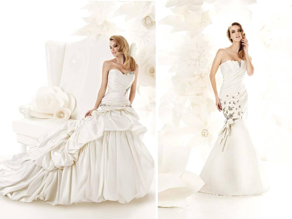 Ivory Ball Gown Wedding Dress: Romantic Ivory Ball Gown Wedding Dress With Bustle Detail