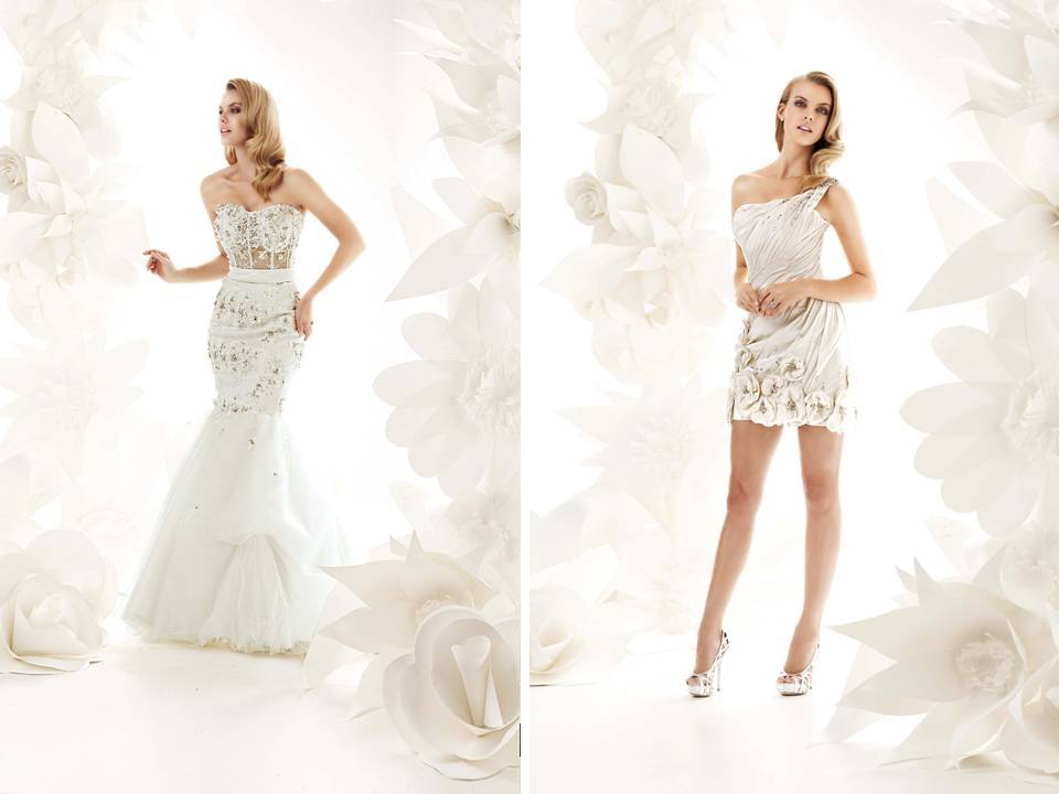 Short Brides Dresses in Mermaid