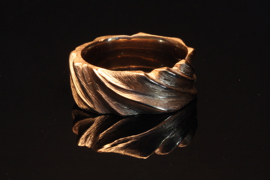 Carved man's wedding ring