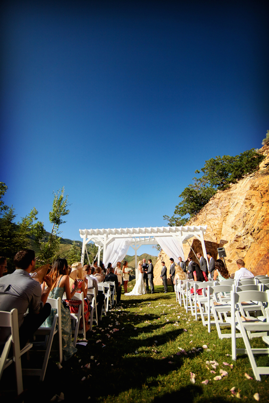 Outdoor wedding ceremony in Salt Lake City Utah