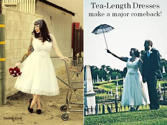photo of 2011 Bridal Style Trend- Tea-Length Wedding Dresses!