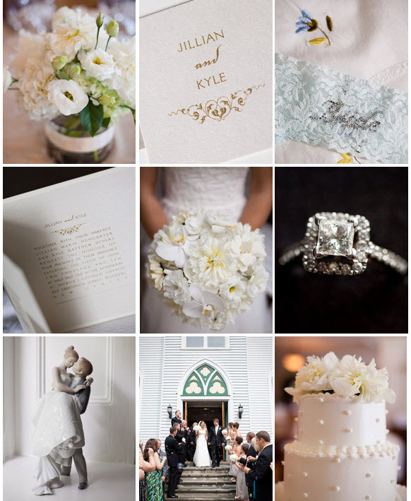 photo of Real Wedding Inspiration: Creamy White Wedding Flowers, Chic Champagne Details