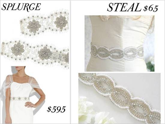 photo of Splurge vs. Steal Bridal Style- Wedding Dresses, Shoes, Accessories