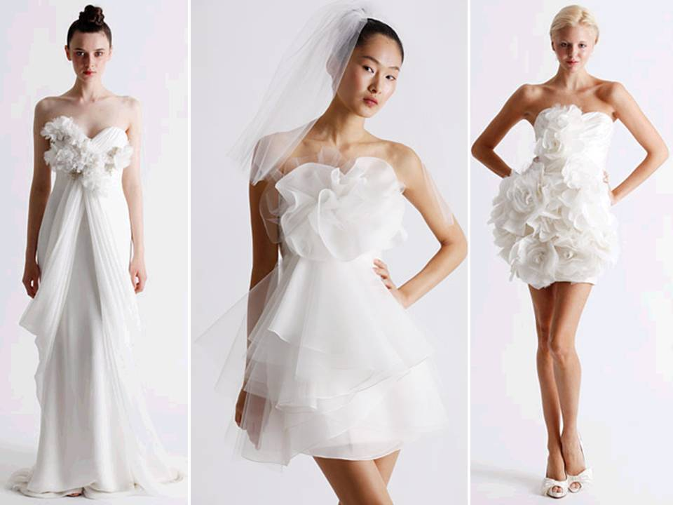Flirty White Wedding Dresses And Reception By Marchesa