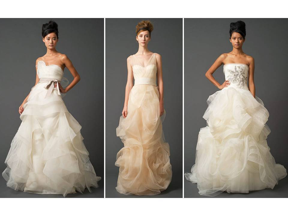 Vera Wang's tulle and power netting 2011 wedding dresses are truly romantic!