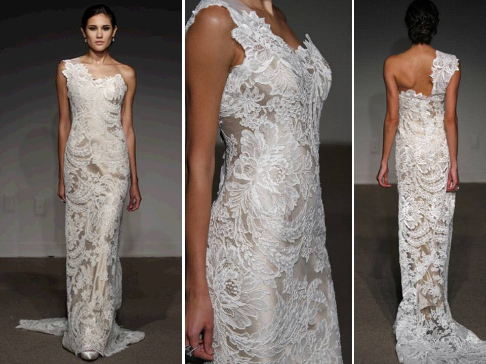 Stunning Ivory Lace Over Champagne Satin 2011 Wedding