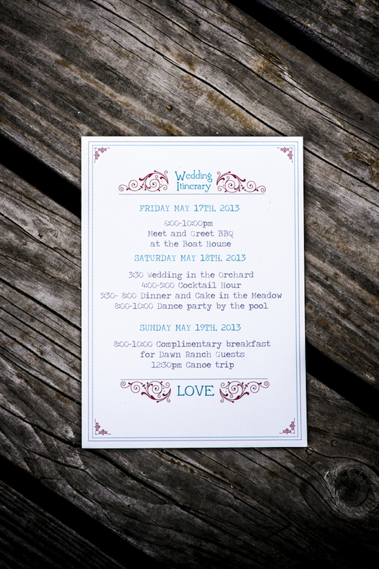 Simple yet unique wedding invitations