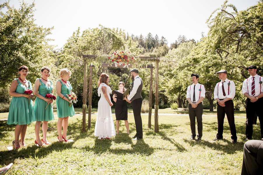 Sweet And Simple Outdoor Ceremony