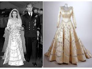 photo of Royal Wedding Dresses of Great Britain- Queen Elizabeth