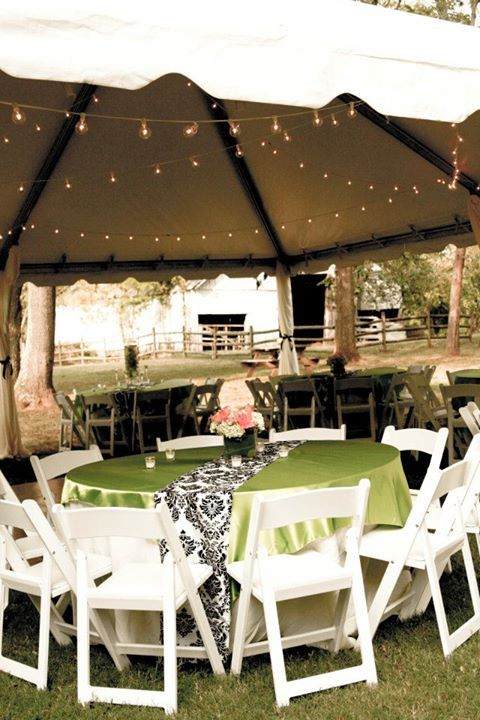 ATented Backyard Wedding Reception