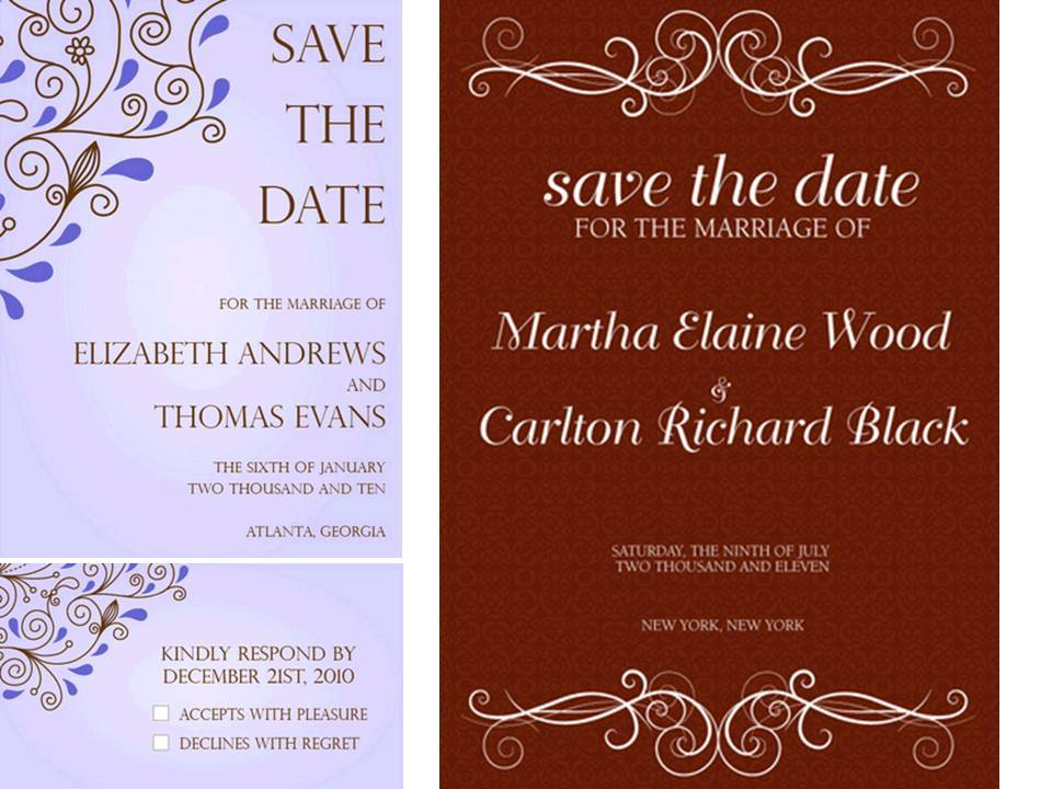 Lovely Paperless Wedding Invitations In Blue Chocolate Brown And Cocoa