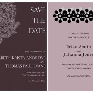Wonderful Classic Patterned Paperless Wedding Invitations