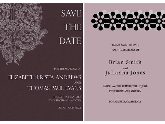 Eco-chic paperless wedding invitations with modern designs