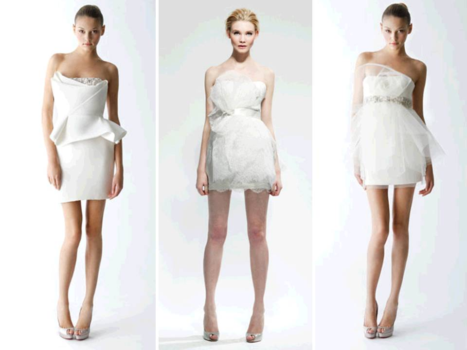 Mini white wedding reception dresses by marchesa Dresses for wedding reception