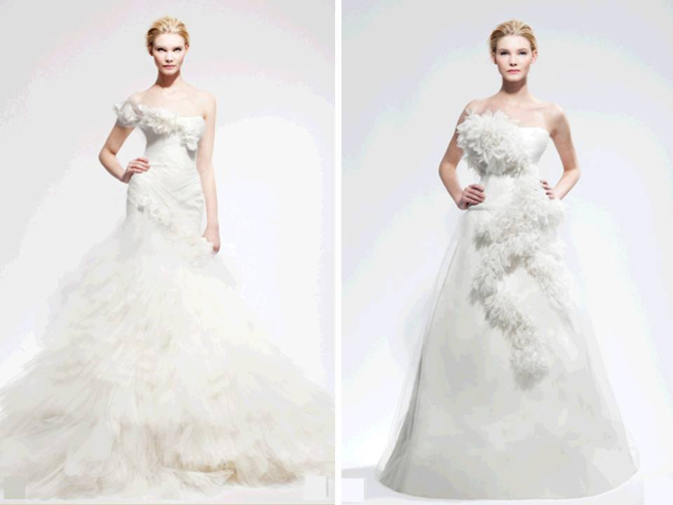 ROmantic ballgown and a-line wedding dresses from Marchesa