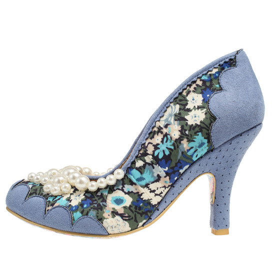IRREGULAR CHOICE-PEARLY GIRL-BLUE-LEFT