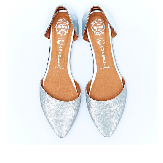 COLD FEET BY JEFFREY CAMPBELL-LOVE ME-SILVER-TOP VIEW