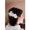 Wedding-hairstyles-updo-classic-curly-updo-with-flower-in-hair-ivory-high-neck-bolero-wedding-dress.square