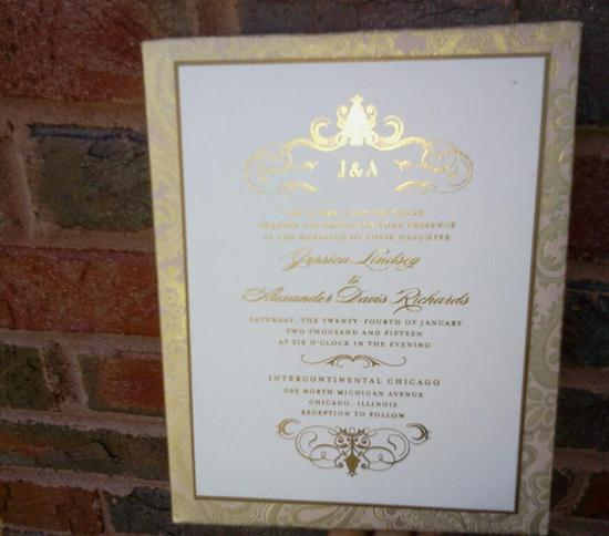 Foil Print Padded Invitation