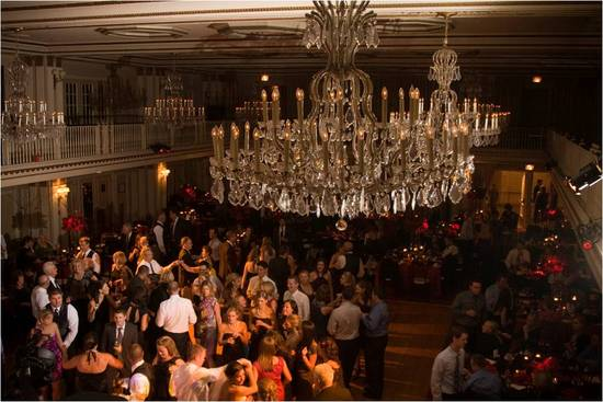 Opulent wedding reception in downtown Chicago at The Drake