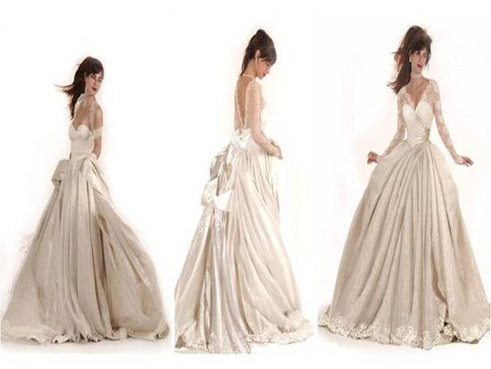 Dramatic ballgown wedding dresses are on-trend for 2011 British bridal style