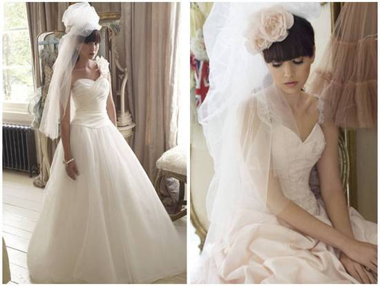 Haute Couture bridal headpieces like fascinators and poufs are very much in for 2011