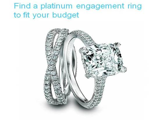 Find the platinum engagement ring of your dreams without your fiance going broke