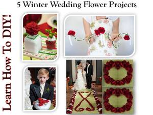 photo of Winter Wedding Inspiration- 5 More DIY Wedding Flowers Projects!