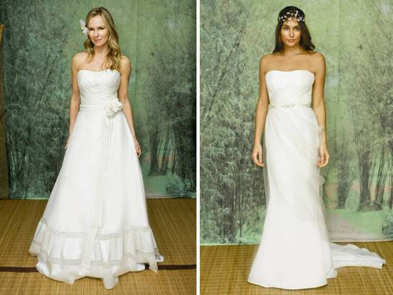 Eco-friendly 2011 wedding dresses by Adele Wechsler