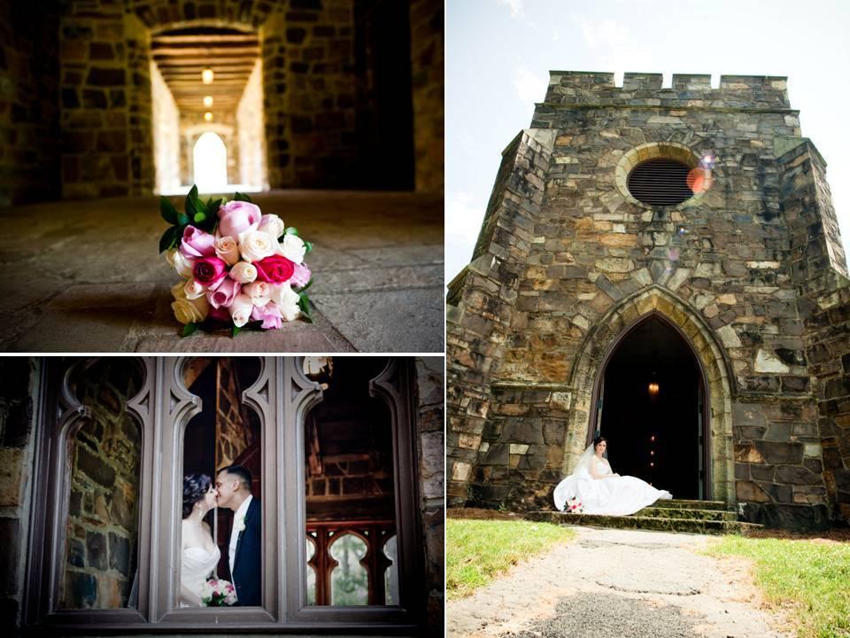 Castle-wedding-real-wedding-inspiration-venue-pink-bridal-bouquet.full